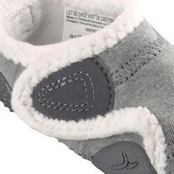 Gymschoentjes 550 Babylight gevoerd grijs/wit