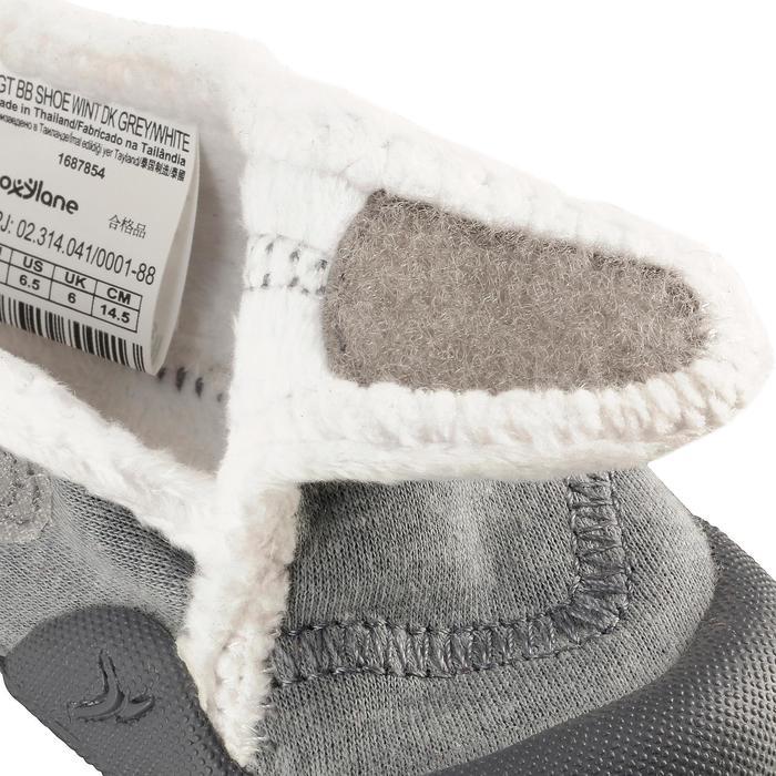 Turnschuhe Babylight gefüttert grau meliert/weiß