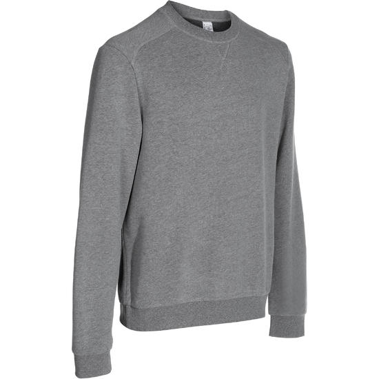 Herensweater met ronde hals voor fitness en pilates gemêleerd - 762534