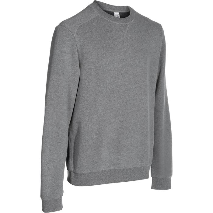 Sweat col rond Gym & Pilates homme gris chiné - 762534