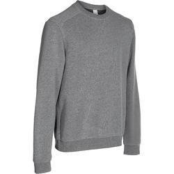 Herensweater met ronde hals voor fitness en pilates gemêleerd