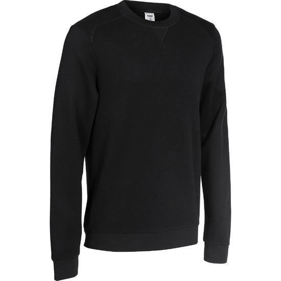 Herensweater met ronde hals voor fitness en pilates gemêleerd - 762541