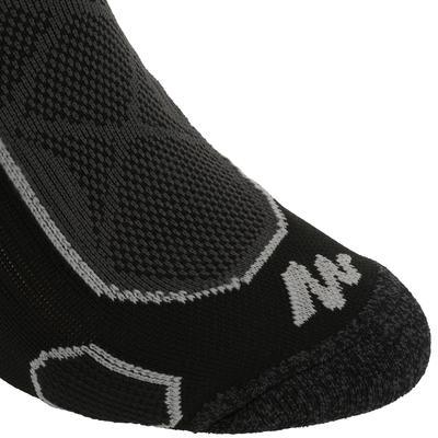 جوارب طويلة للمشي في الجبال.زوج جوارب Forclaz 500-أسود/رمادي.