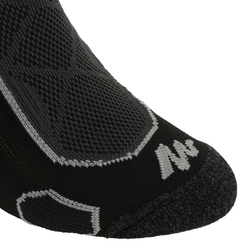 ถุงเท้ายาวสำหรับเดินป่าบนภูเขา รุ่น MH 500 2 คู่ (สีดำ/เทา)