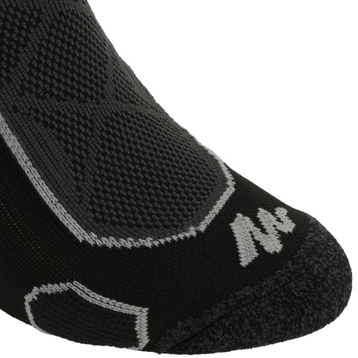 Calcetines de senderismo en la montaña largos2 pares Forclaz 500 negro gris.