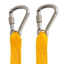 Lifeline met 2 veiligheidsmusketons voor zeilen geel