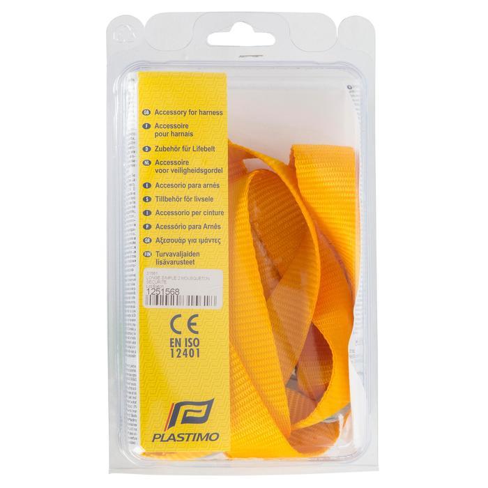 Lifeleine mit 2 Sicherheitskarabinern Segeln gelb