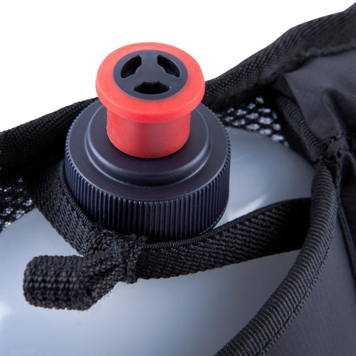 Lauf-Trinkgürtel 2 Flaschen 250 ml schwarz/rot