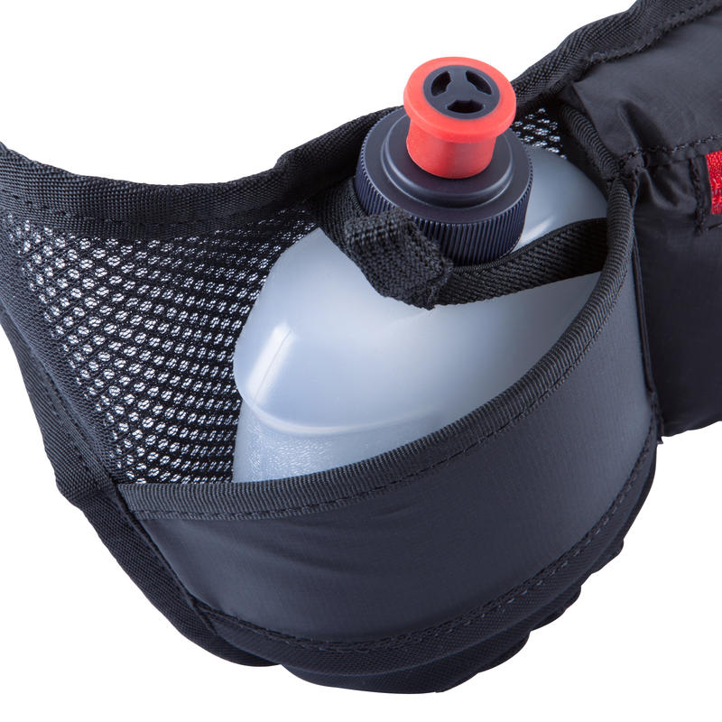 running hydration bottle - RUNNING WAISTBAND 2 WATER BOTTLES 250ml