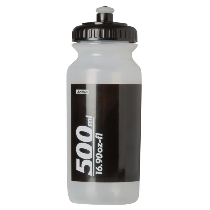 Bidón CICLISMO con tapón 500 ml transparente