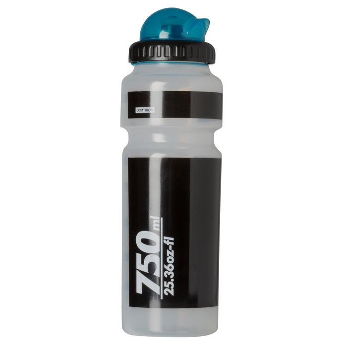 Bidon 750 ml doorzichtig met kapje - 763686