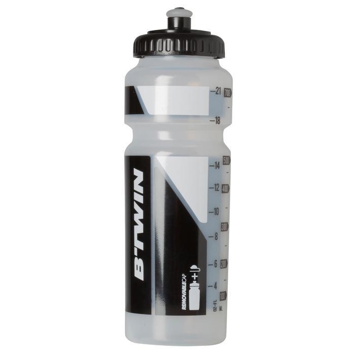 Bidón bicicleta 750 ml transparente con tapón