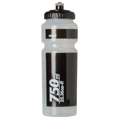Bidon cycle 750 ml transparent avec capuchon