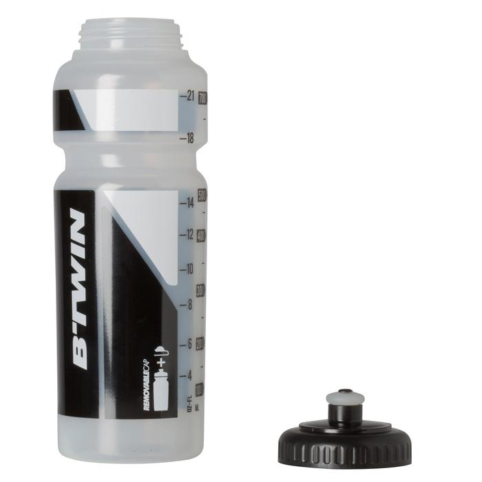 Bidon cycle 750 ml transparent avec capuchon