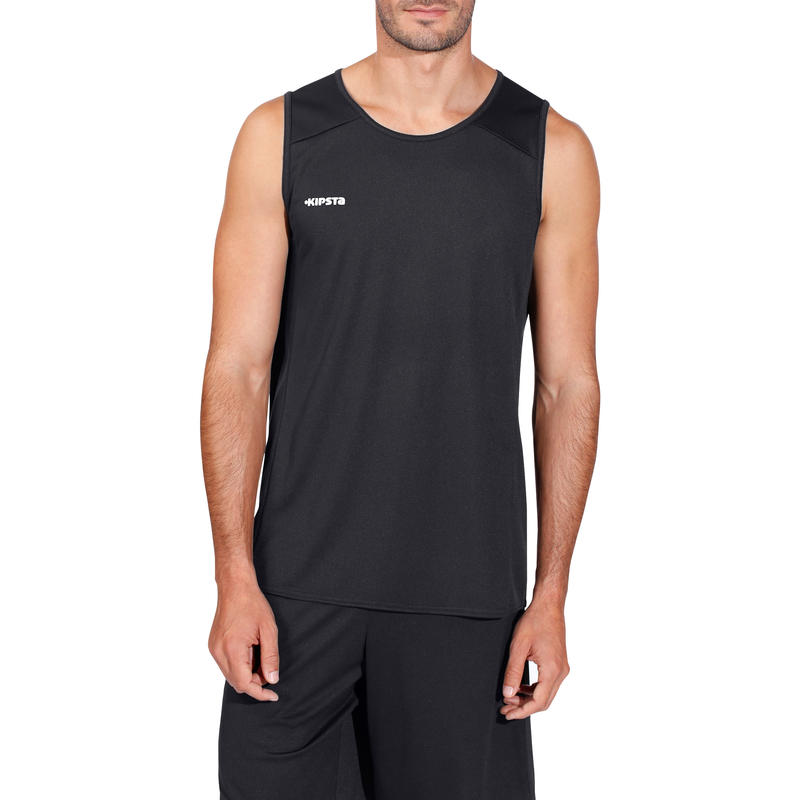 Camiseta de basketball para adulto B300 negro