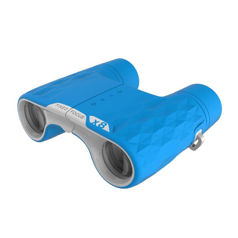 กล้องส่องทางไกลแบบสองตาระยะโฟกัสคงที่สำหรับเด็กใช้เดินป่า กำลังขยาย 8 เท่า รุ่น MH B120 (สีฟ้า)