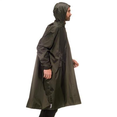שכמיית גשם להליכה 40 ליטרים מדגם Arpenaz במידה L/XL - אפור בהיר