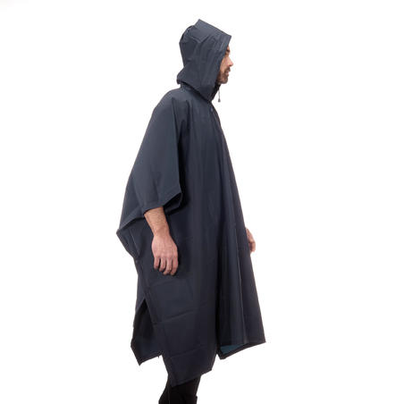 Adult Hiking Rain Poncho - ARPENAZ 10 L - Blue