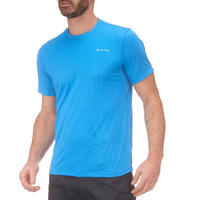 MH100 Men's Short Sleeve Mountain Hiking T-shirt - Blue