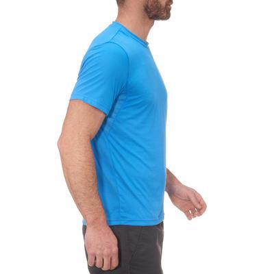 MH100 Men's Short Sleeve Mountain Hiking T-shirt - Blue