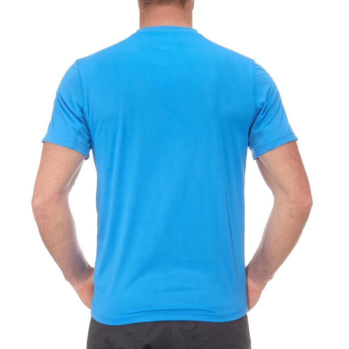 Heren T-shirt MH100 met korte mouwen voor wandelen blauw
