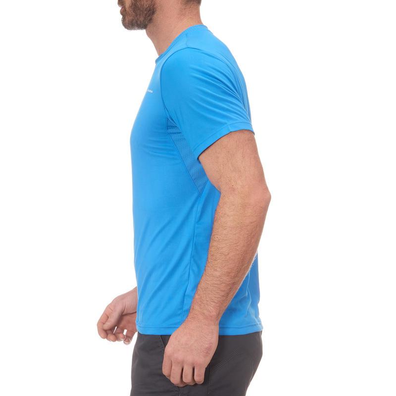 Tee Shirt Randonnée montagne MH100 manches courtes homme Bleu