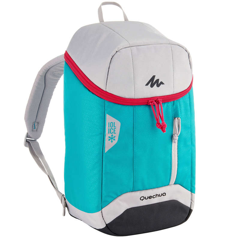 HIKING CAMP COOL BOXES Camping - Forclaz Ice Cool Bag 10 L - Turquoise QUECHUA - Camping Cooking Equipment