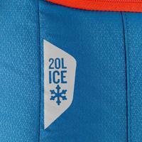 Hielera de campamento Forclaz ICE BP 20 l. azul