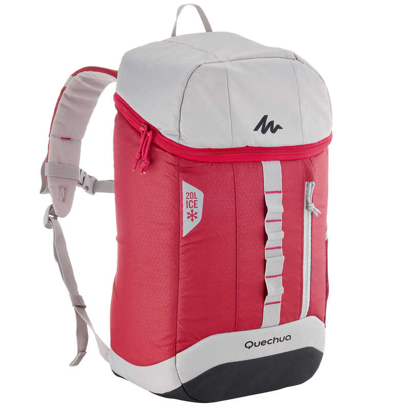 HIKING CAMP COOL BOXES Camping - Forclaz Ice Cool Bag 20 L - Red QUECHUA - Camping Cooking Equipment