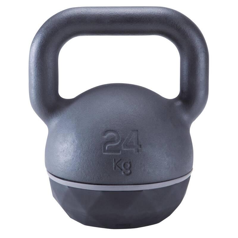 ZÁVAŽÍ NA KRUHOVÝ TRÉNINK Fitness - Kettlebell 24 kg DOMYOS - Posilování a kruhový trénink