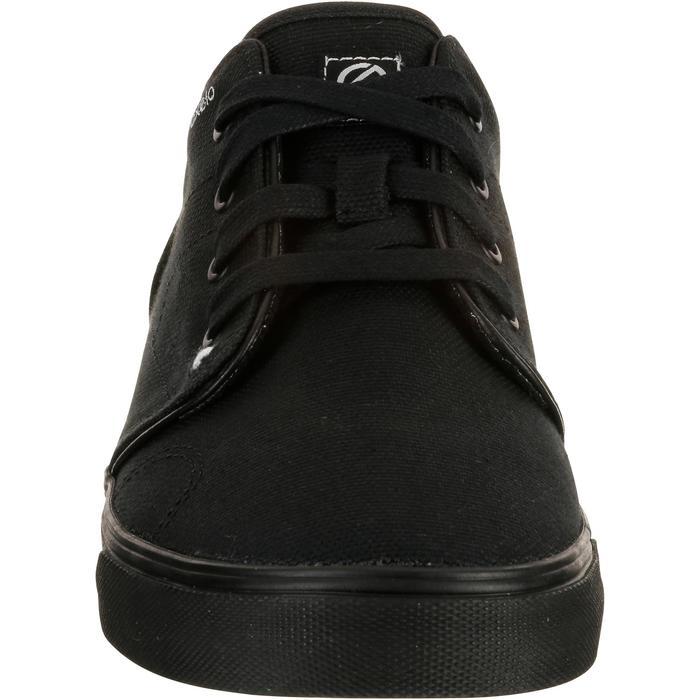 Lage skateboardschoenen voor volwassenen Vulca canvas zwart
