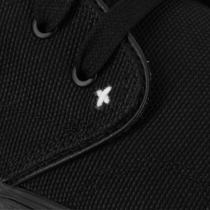 Zapatillas bajas skateboard-longboard adulto VULCA 100 CANVAS full black