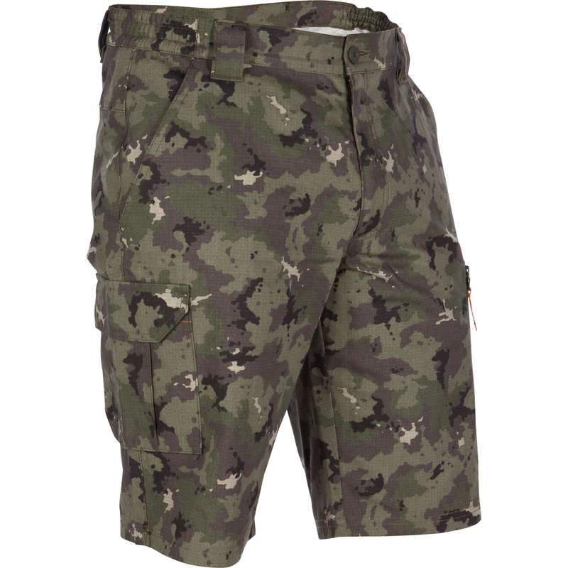 LIGHTWEIGHT CLOTHING Shooting and Hunting - BERMUDA 500 CAMO ISLAND GREEN SOLOGNAC - Hunting and Shooting Clothing