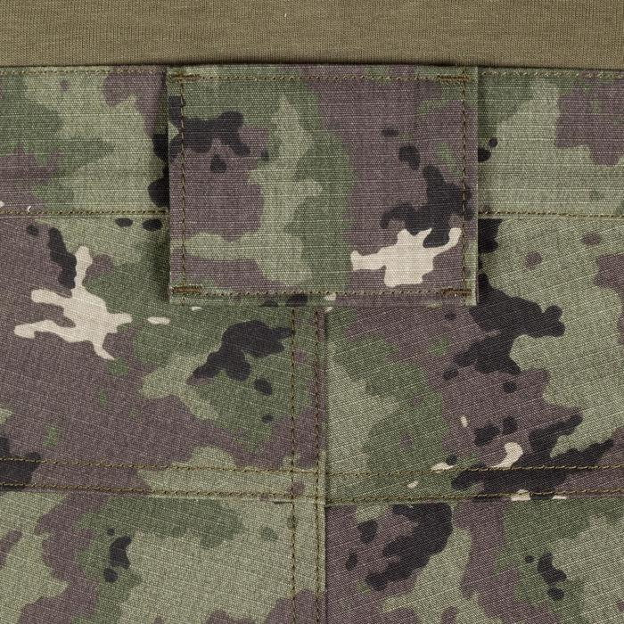 Bermudashorts 500 Island Camouflage grün