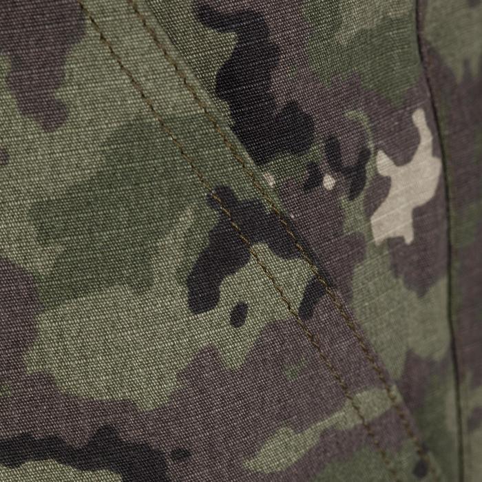 Jagdshorts 500 Camouflage Island grün