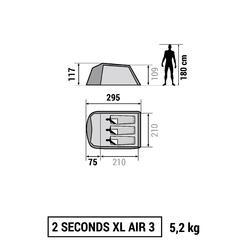 Kampeertent 2 Seconds XL 3 Air | 3 personen - 766506