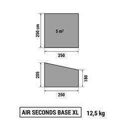 Shelter met deuren Air Seconds XL 6 personen SPF30 grijs - 766517