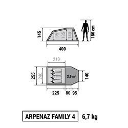 Gezinstent Arpenaz 4   4 personen - 766529