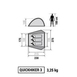 Tenda Hiking Quickhiker 3 | 3 orang