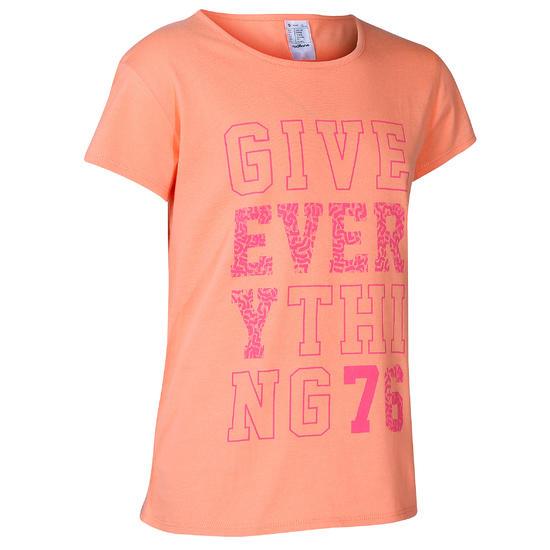 Meisjes T-shirt met korte mouwen en opdruk voor gym - 766566