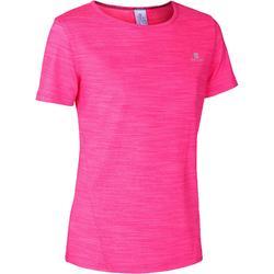 Gym T-shirt met korte mouwen S500 voor meisjes