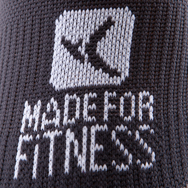 Calcetines cortos fitness cardio training x2 negros