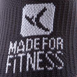 Sportsocken kurz Fitness 2er-Pack Erwachsene schwarz
