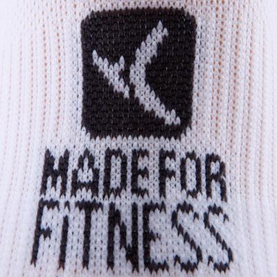 Short Fitness Cardio Training Socks Twin-Pack - White