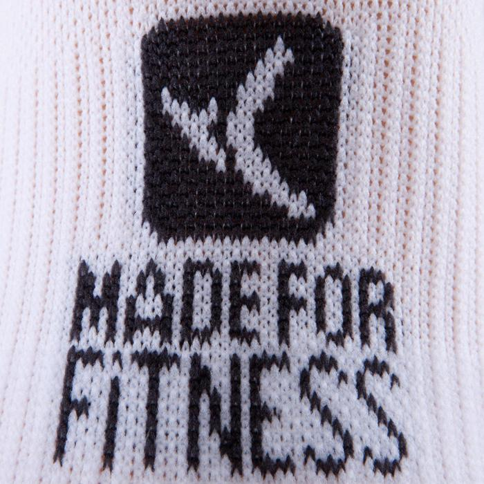 Chaussettes basses fitness cardio training x2 blanc