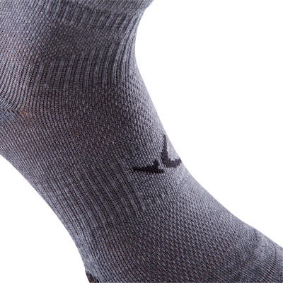 Short Fitness Cardio Training Socks Twin-Pack - Grey