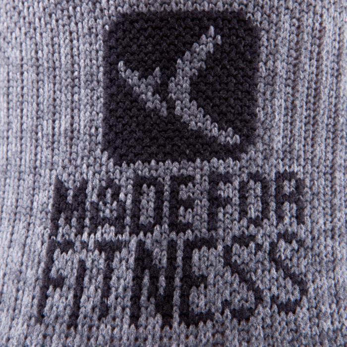 Sportsocken kurz Fitness 2er-Pack Erwachsene grau