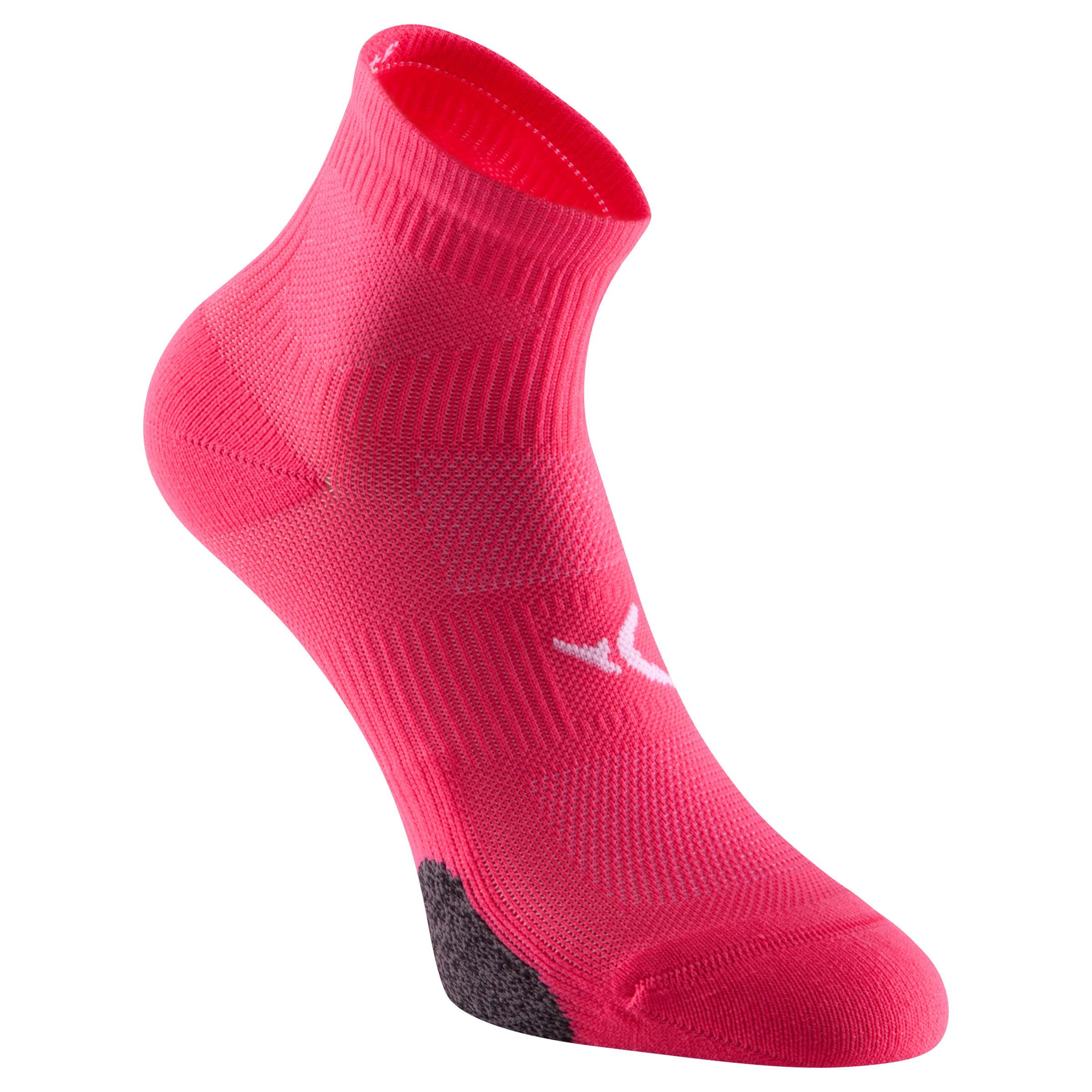 Calcetines cortos fitness x2 rosa