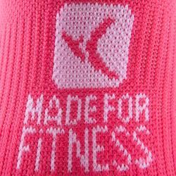 Sportsocken kurz Fitness 2er-Pack Erwachsene rosa