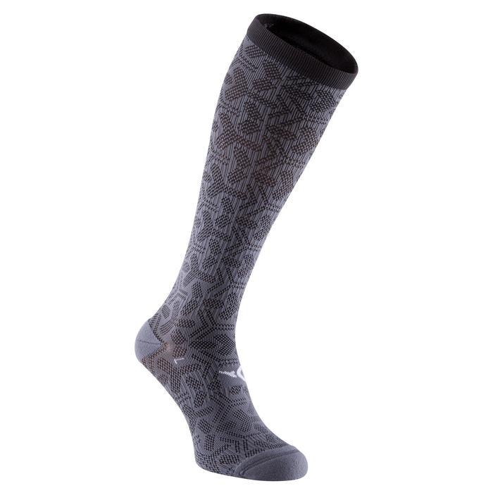 chaussettes hautes fitness noir gris